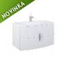 Skrinka pod umývadlo ELITA by ROYO ROUND, 100 cm, biela, 122949