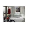 Dvojité umývadlo ROCA VERANDA s keramickou doskou, 100x52 cm, A327444000